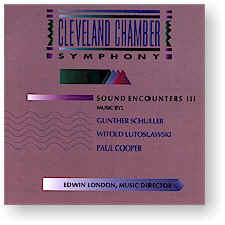 Cleveland Chamber Symphony: SOUND ENCOUNTERS, VOL 3